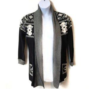 Luxurious Cotton Knit Open Southwest Cardigan SZ L